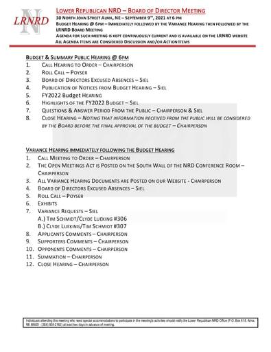 1DRAFT Agenda 9 09 2021